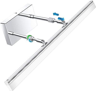 Ledmo Modern Led Bathroom Vanity Lights Retractable Cool White 6000k Stainless Steel Vanity Wall Light Adjustable Over Mirror Long Led Bathroom Lighting Fixtures 14w 24inch Amazon Com
