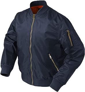 MAGCOMSEN Men's Winter Flight Bomber Jacket with Zipper Pockets Thicken Warm Baseball Jacket