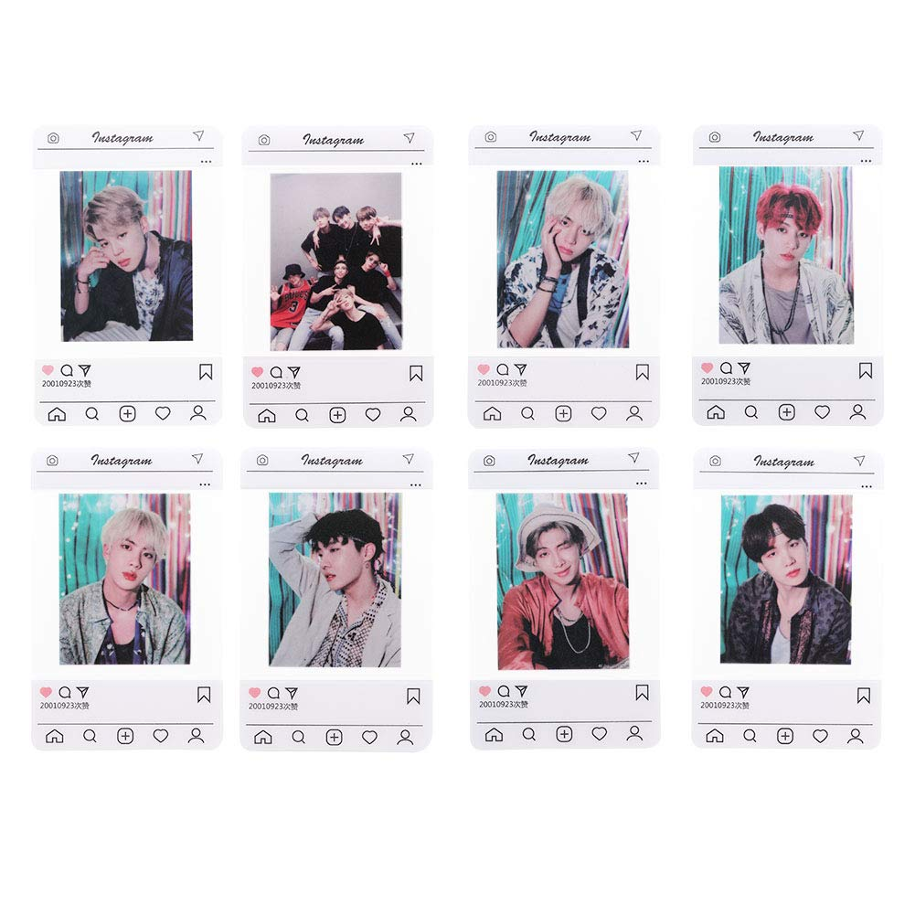 ALTcompluser Kpop BTS Instagram Card Bangtan Boys Jin Jimin Suga J-Hope  Jung Kook V RM Photocard Photo Cards Gift for BTS Army #4: Amazon.co.uk:  Kitchen & Home