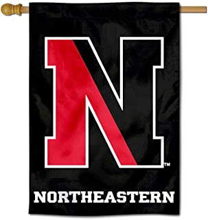 College Flags & Banners Co. Northeastern Huskies Two Sided and Double Sided House Flag