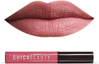Sponsored Ad - CHICA BEAUTY Waterproof Matte Liquid Lipstick, Non Toxic 100% Risk Free Makeup - Long Lasting Velvety Smoot...