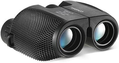 TOMSHOO 10x25 Binoculars Compact Waterproof Binocular with Weak Light Night Vision for Outdoor Sports Bird Watching Concerts and Travel