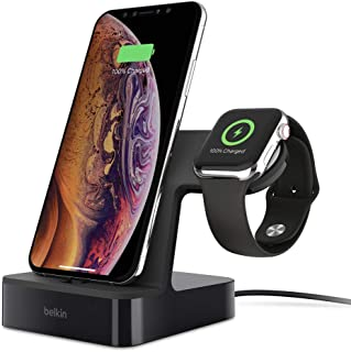 Mobile Phone Case Belkin PowerHouse Charge Dock for Apple Watch + iPhone (iPhone Charging Dock for iPhone 11, 11 Pro/Pro M...