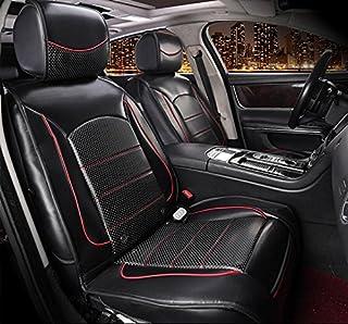 AMYMGLL Tres en uno coche de masaje amortiguador calefacción vibración masaje multiuso colchón calidad cuero , black