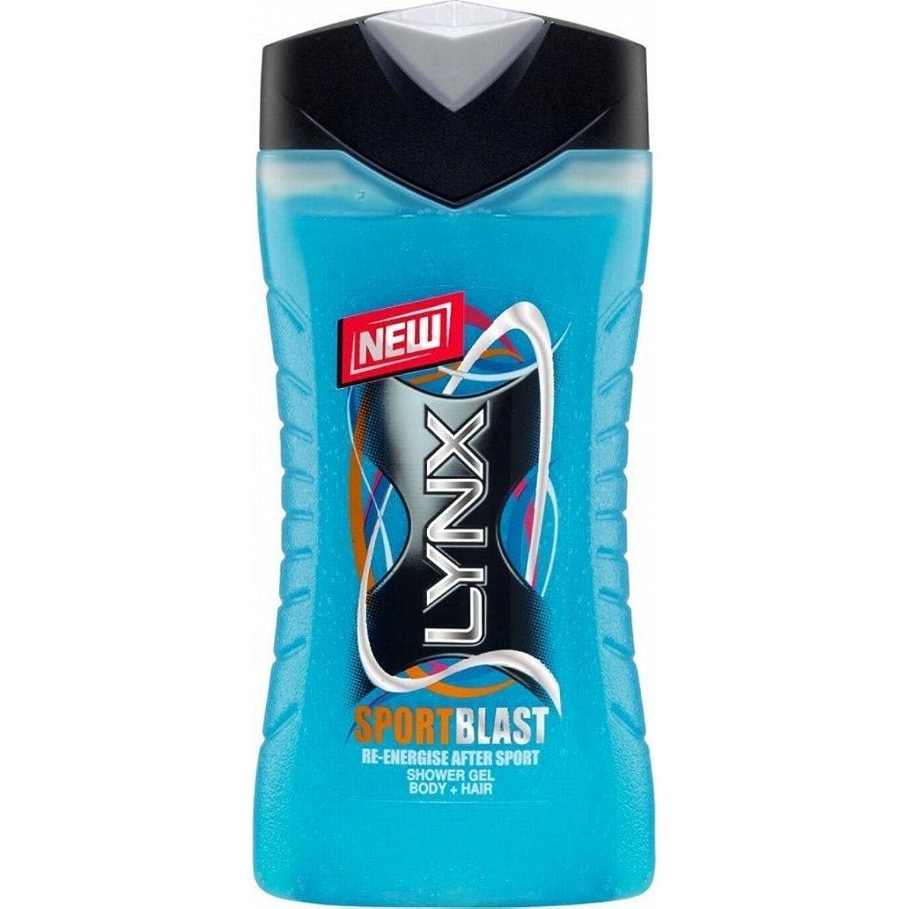 より良い局嫌がるLynx Body & Hair Shower Gel - Sport Blast (250ml) オオヤマネコボディ、ヘアシャワージェル - スポーツブラスト( 250ミリリットル) [並行輸入品]