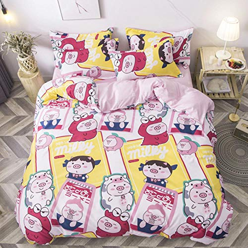 empty Duvet Quilt Cover And 2 Pillowcase Bed Set, Polyester-Cotton, Double,Easy Care And Super Soft Cotton Design,Prevent allergy,A21,(240x220) cm 2x(50x75) cm