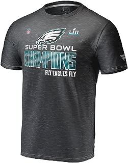 Men's Philadelphia Eagles NFL Heather Black Super Bowl Lii Champions Collection T-Shirt (3XL)