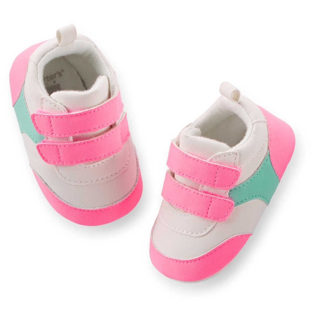Carters Baby Girls Pink Sneaker Easy-to-use 0-3M Retro 40% OFF Cheap Sale