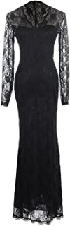 Anna-Kaci Women's Elegant Floral Lace Gothic Ghost Halloween Mermaid Maxi Dress