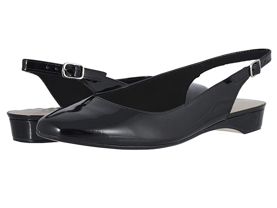1950s Style Shoes | Heels, Flats, Saddle Shoes Walking Cradles Parasol Black Patent Womens Shoes $114.95 AT vintagedancer.com