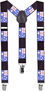 Suspenders One Size Fully Adjustable Y Shaped with Strong Clips Unisex