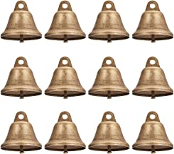 NBEADS 30 PCS 38mm/1.5 Inch Antique Bronze Vintage Jingle Bells for Home Decorations, Hanging Decorations Crafts, Aeolian ...