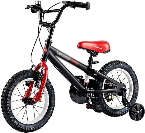 Bicicletas Para Niños Montaña para Niños 2-4-6 Años Niñas Deportiva Al Aire Libre Triciclo Seguro Y Estable (Color : Black, Size : 14 Inches): Amazon.es: Deportes y aire libre