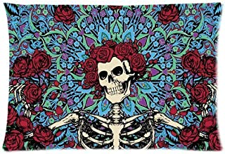 Shannonsa Bedroom Decor Custom Grateful Dead Pillowcase Rectangle Zippered Two Sides Design Printed 20x30 pillows Throw Pillow Cover Cushion Case Covers