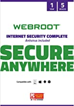 Webroot Internet Security Complete with Antivirus Protection Software | 5 Device | 1 Year..