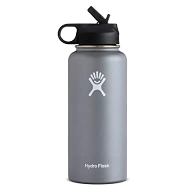 Hydro Flask Wide Mouth Water Bottle, Straw Lid, Old Style Design - Multiple Sizes & Colors