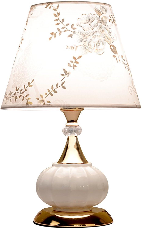 FANXM Europische Moderne Minimalistische Keramik Schlafzimmer Nachttisch Perspektive Study Zimmer Wohnzimmer Warm Lampen
