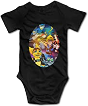 Ioagdaazz Playstation -Sly Cooper-Ratchet and Clank-Jak and Daxter Lovely Baby Onesies for Baby Black 2T
