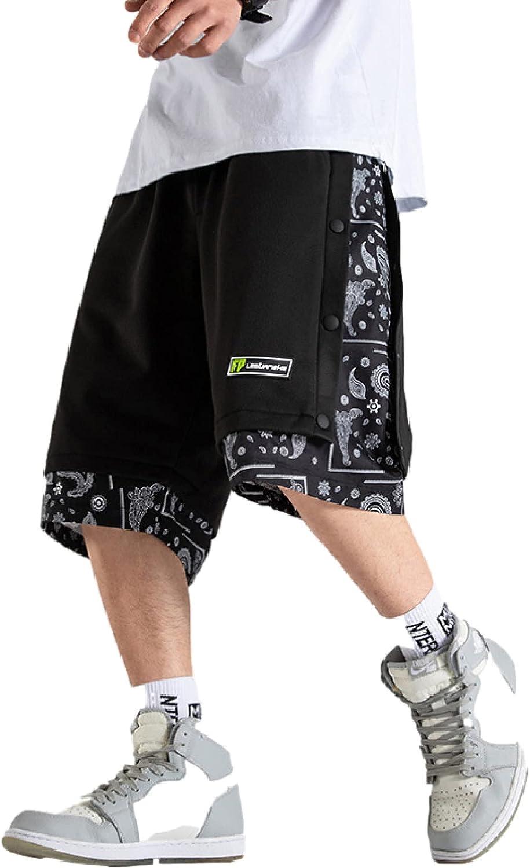 Corumly Men's Casual Shorts Summer Loose Straight Big Pocket Tooling Casual Shorts