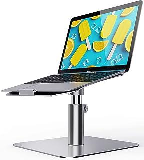 Laptop Stand Adjustable, Ohuhu Ergonomic Aluminum Notebook Computer Holder, Multi-Angle & 360 Rotating Laptop Riser for De...