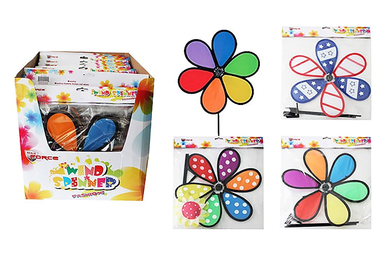 耐えられるめまい決めますDiamond Visions Max Force 11-1211 Flower Wind Spinner MultiPack in Assorted Designs (2 Wind Spinners)