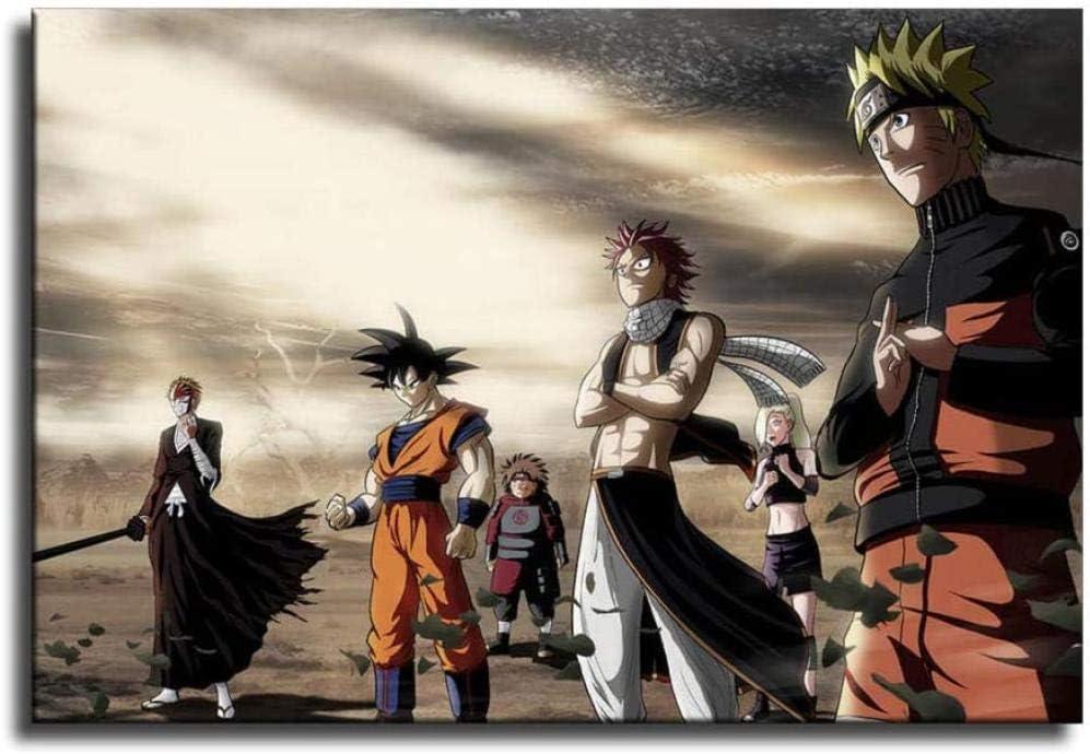 Goku Luffy Naruto Ichigo Natsu
