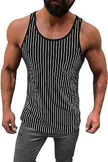 MODOQO Mens Vest,Male Summer Sports Vest Pure Cotton Pure Large Open-Forked Tank Tops