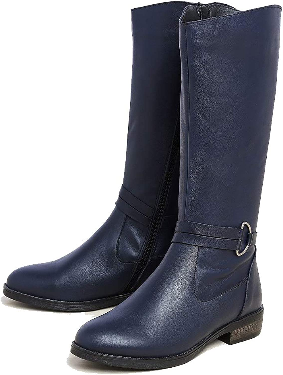 Bunique Sydney High Over The Knee, Leather Womens Boots for All Weathers, with Small Heel 0.7 inch.
