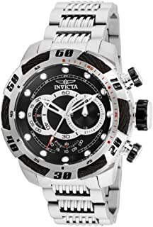 Men's Speedway Quartz Stainless-Steel Strap, Silver, 24...
