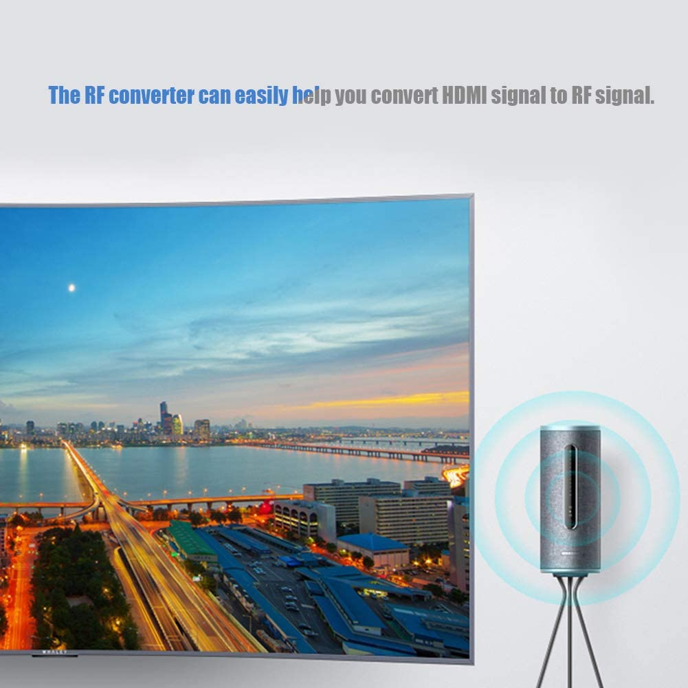 Supporto Scatola convertitore convertitore coassiale da HDMI a RF 480I//480P//576I//576P//720P//720I//1080I//1080P Wendry Scatola convertitore da Segnale HDMI a RF Unione Europea