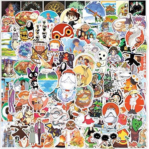 WUWEI Bonita Pegatina de Anime Miyazaki para Maleta, Pegatina de Graffiti, portátil, Coche, Bicicleta, Motocicleta, Juguetes para niños, 100 Piezas
