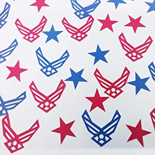 Morndew 100 PCS United States Air Force Emblem Confetti for Military Themed Party USAF Promotion Retirement Party Wedding Party Birthday Party Decorations