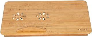 ノートパソコンデスク 朝食用デスク ベッドテーブル 竹 折りたたみテーブル 天板角度調節可なラップトップ 小さな引き出し 軽量 ポータブルテーブル ベッドの中?床の上?ソファ?車の中に適用 サイズ:50*30*20cm