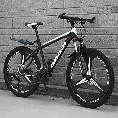 Hmcozy Mountain Bike 21/24/27/30 velocità Studente Bicicletta Cross Country BMX 26in Road Racing Speed ​​Bike,B3,30 Speed