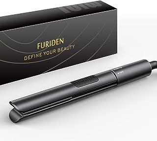 FURIDEN Mini Hair Straightener, Travel Size Flat Iron, Mini Hair Straightener and Curling Iron 2 in 1, 0.8 inch, Adjustable Temperature