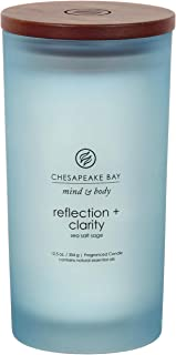 Chesapeake Bay Candle PT31909 Mind & Body Large Scented Candle, Reflection + Clarity (Sea Salt Sage)