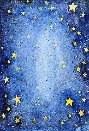 FiVan™-Sp 150x220cm hijos photography Fondo de la estrella azul de dibujos animados fondo foto fotografía fotográfica apoyos FD-3052