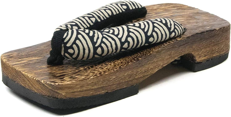 KYOETSU Boys' Japanese Wooden Geta Sandals Brown