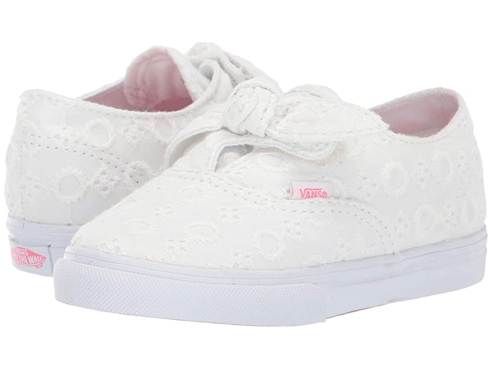 Vans Kids Authentic Knotted (Infant/Toddler) ((Lace Chambray) True White/True White) Girls Shoes