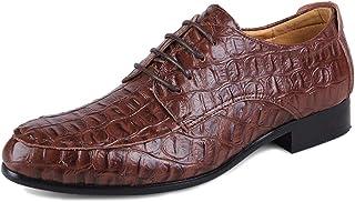 DFHJRFKREDY Hommes en Cuir Lacets Ups Chaussures Motif Crocodile Taille Chaussure Entreprise décontractée pour Derby Grand...