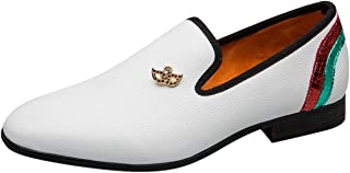 Mocassin Homme Blanc Cuir Slip on Confort Casual Chaussures de Conduite Party Loafers Slippers Chaussure