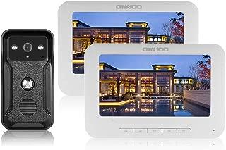 OWSOO 7 Pulgadas Videoportero Cableado 2 Monitor Interior +