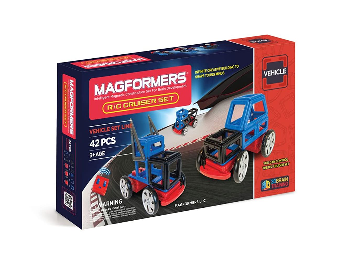 Magformers R/C Cruisers (42-pieces) Set Magnetic    Building      Blocks, Educational  Magnetic    Tiles Kit , Magnetic    Construction  STEM Toy remote control wheel Set