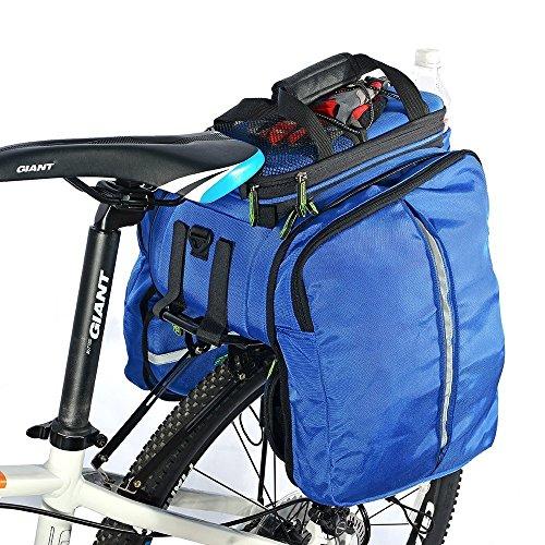 ROCKBROS Bolsa Asiento Trasero de Bicicleta para Portaequipajes Alforja Extensible...