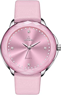 Women's Watch High Accuracy Quartz Movement 8938L Watch Scratch Resistant Artificial Feather Watch Band Fashion Style Wrist Watch for Girls Ladies Length Adjustable Up to 23.5cm