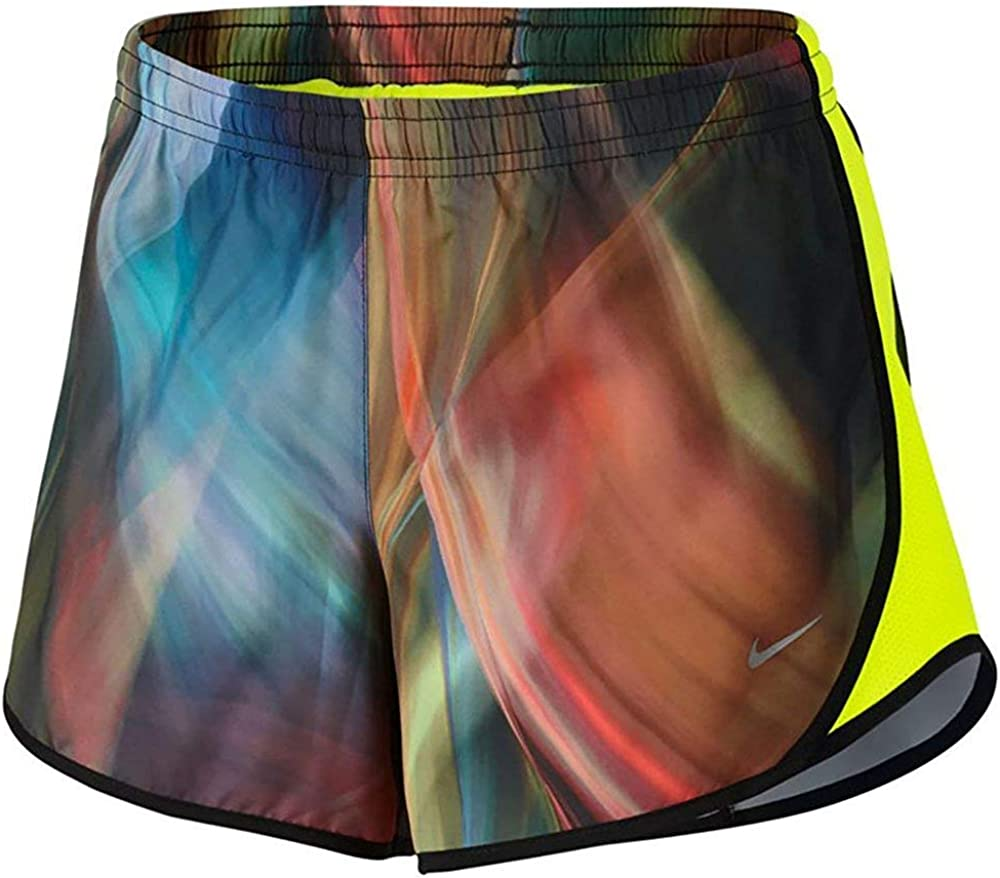 NIKE Girl`s Dry Max 61% OFF Tempo Running High quality Volt 902101-701 Green Bl Shorts