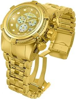 Men's 12738 Bolt Analog Display Quartz Gold Watch