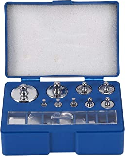 17 Pcs Calibration Weights Set, 10mg-100g Grams Weights Calibration, Precision Stainless Steel Calibration Weight Kit, Scale Calibration Weight Kit for Digital Balance Scale, Jewellery Scale and Scien