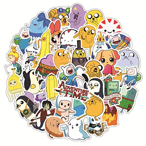 LMY 50 unids Time Adventure Creative Graffiti Sticker Monopatín Trolley Box Sticker Cartoon Sticker Impermeable PVC Sticker