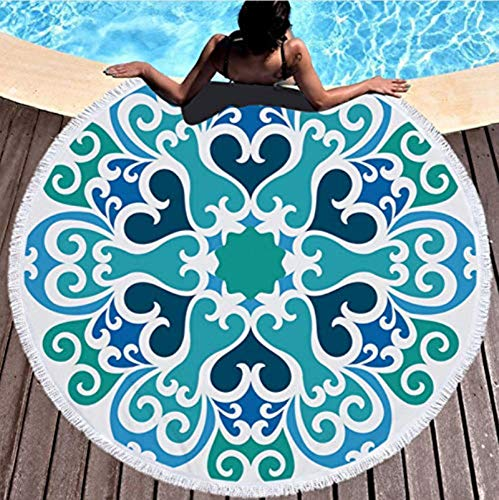 Mandala ronde strandhanddoek met kwastje yoga mat sprei tapijt deken absorberende microvezel mode stijl 150x150cm picknick mat